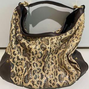 Gucci Bags - $3550 GUCCI PYTHON SNAKESKIN LARGE JOCKEY HOBO